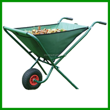 Portable canvas oxford tray folding wheelbarrow garden trolley tool cart 600D PVC polyester bag garden cart wagon barrow