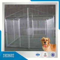 Pet Center Applicated Hot Dipped Galvanized Outdoor Dog Kennels Dog House with Good Quality And Reasonable Price