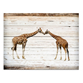 Wall Decor Giraffe Picture Canvas Print Wood Board Painting 1 Piece for Living Room Home Gift Ready to Hang on Wall/SJMT1998