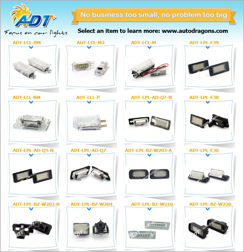 China supplier!!!CANBUS Led license plate light auto part and car accessories for audi for bmw for volkswagen for mazda for benz