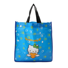 cute reusable recycle foldable supermarket jute shopping bags