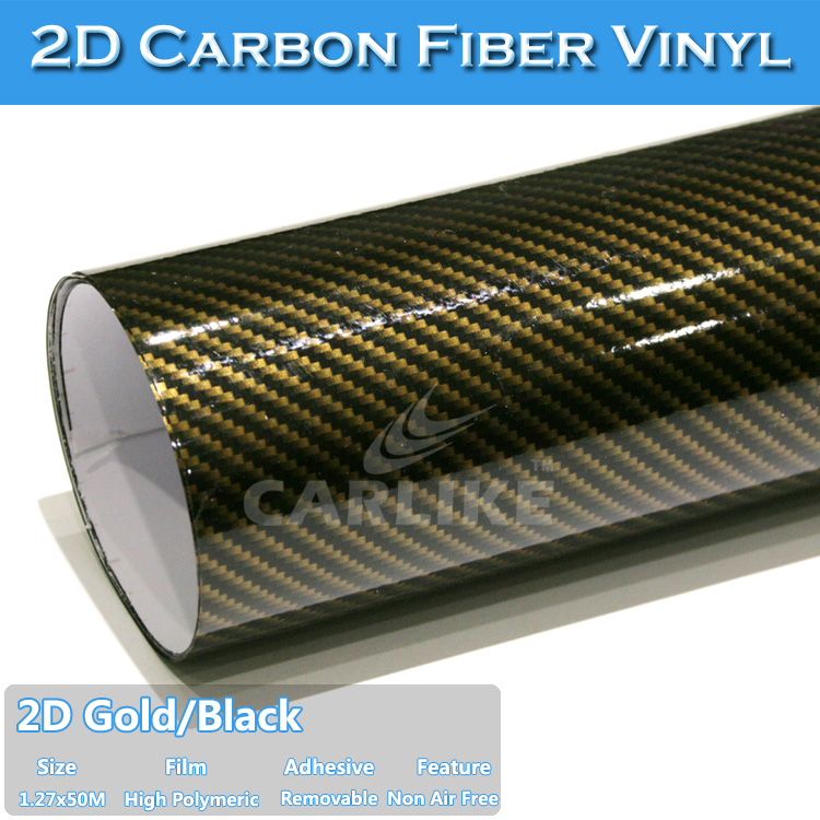 Excellent Packing Car Decoration Vinyl Sticker 2D Carbon Fiber Tape