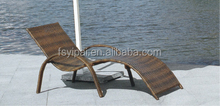 Outdoor wicker daybed rattan lounge patio benches YPS062