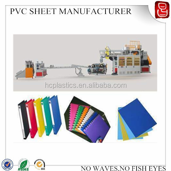 paper stationery pvc sheet/ Book Cover frosted plastic sheet/thin pvc matte sheets