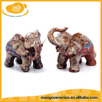 New decorative craft thailand ceramic elephant
