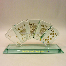 K5 Crystal Poker Award Glass Poker Trophy