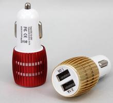 Free sample 5v1a portable car charger with dual usb dual usb car charger 2 in 1 car charger
