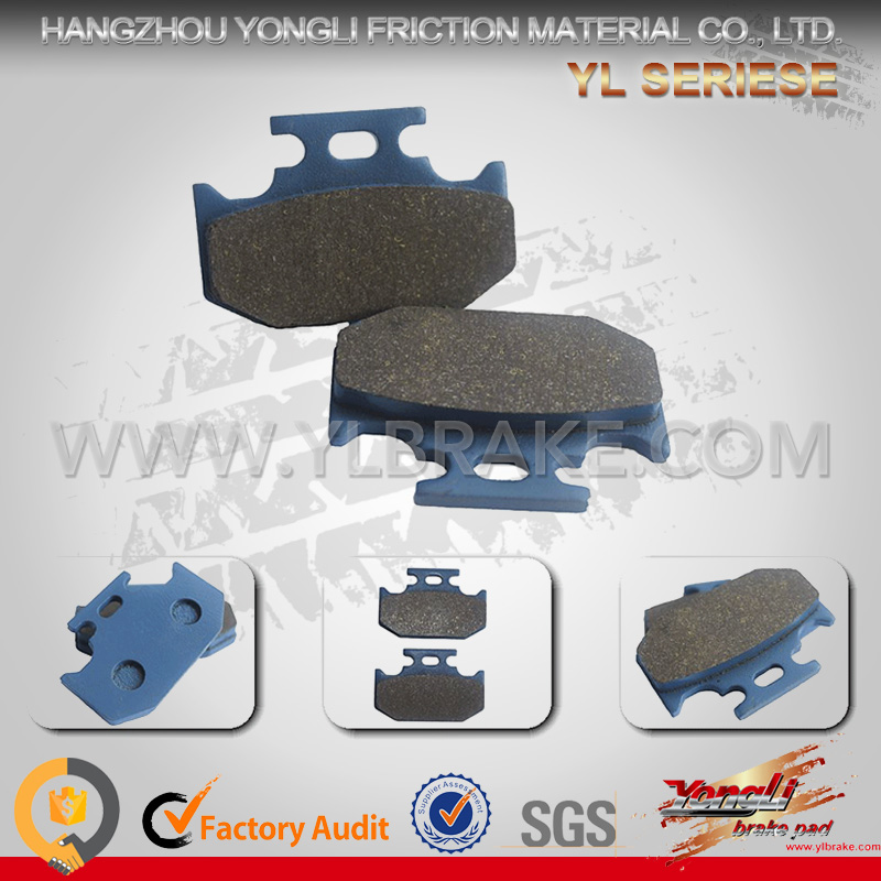 Motorcycle brake pads for YAMAHA dt125;good friction brake pad for KAWASAKI kx 250;ATV brake pad for YAMAHA