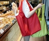 simple and colorfull foldable polyester folding shopping bag