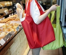 simple and colorfull polyester folding shopping bag