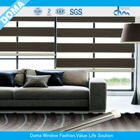 Day and night roller blind and fabric