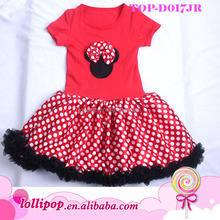 New arrival lovely red micky mouse wedding dress for baby girl
