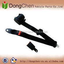 vehicle seat component 3 point retractable seat belts black
