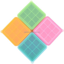 Factory Wholesale New Design Food Grade Silicone 9 Cavity Ice Cube Tray With Lid
