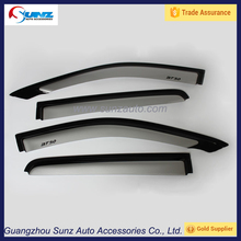 silver weather visor window shields wind deflectors for mazda BT50 2012 weather guards
