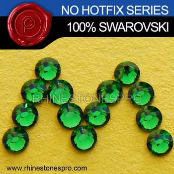 New Style Swarovski Elements Fern Green (291) 20ss Flat Back Crystal No Hotfix Rhinestone