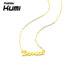 Kumi Brand 925 Sterling Silver Personalized Name Necklace Custom Made Name necklaces