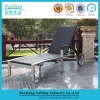 Newest Hotel Outdoor Furniture Resin Rattan Aluminium Sun Lounger