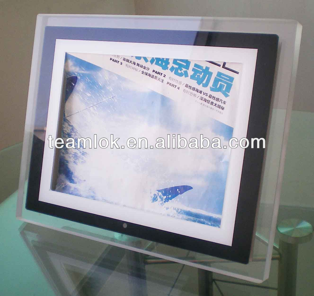 acrylic desktops photo frame, picture frames stand