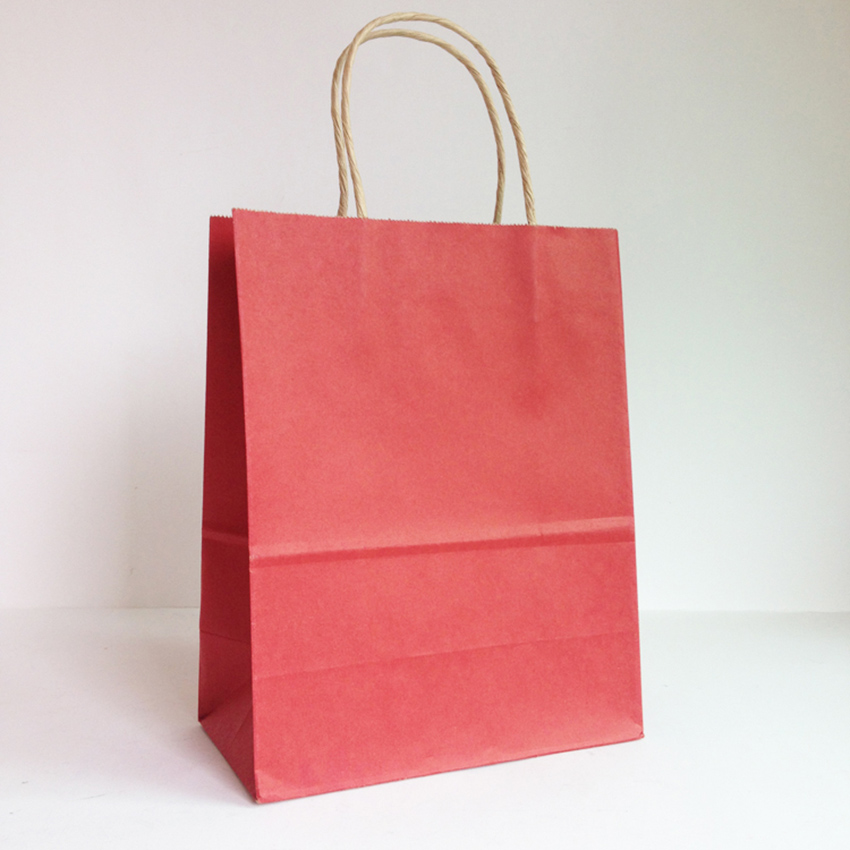 Cheap shopping kraft bags customized folding shopping bags