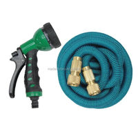 Strong Expandable Garden Hose 25-150 Feet with 8 Spray Pattern Nozzle