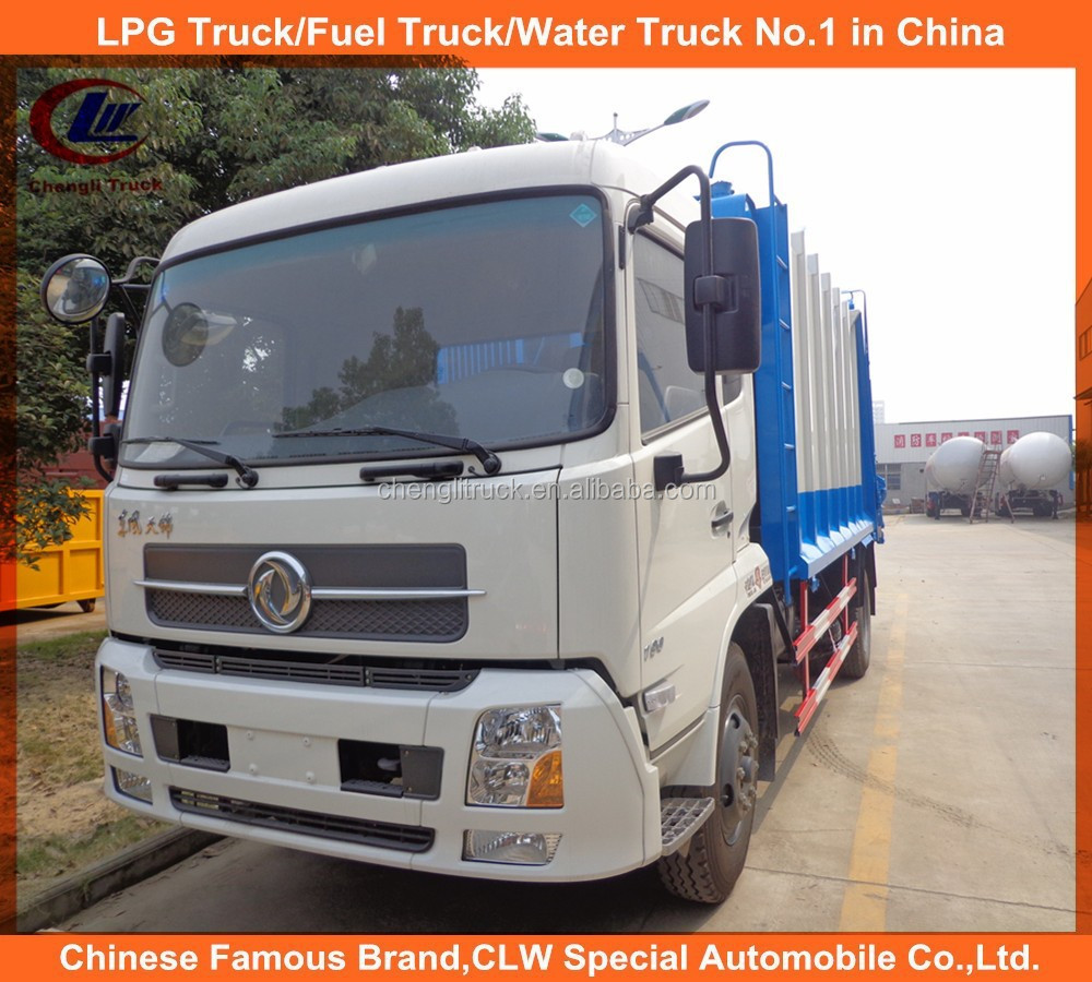 Dongfeng refuse collector truck 8ton 10 tons capacity garbage compactor trucks used compressed garbage trucks for sale