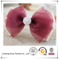 organza with peal hair decoration for women, wedding hair decoration
