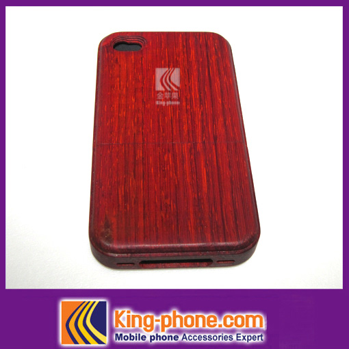 Wholesale case back cover for iphone4, wooden skin case for iphone4,wooden well covers