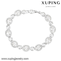 74608 Xuping fitness sports siliconev wholesale stretch beaded korea style friendship bracelet