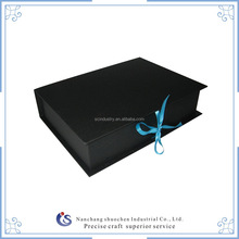 wholesale customized book like gift box with ribbon wrapped