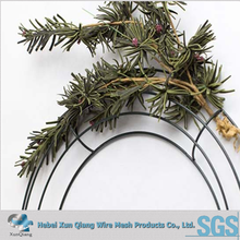 14 inch green color metal wire wreath ring