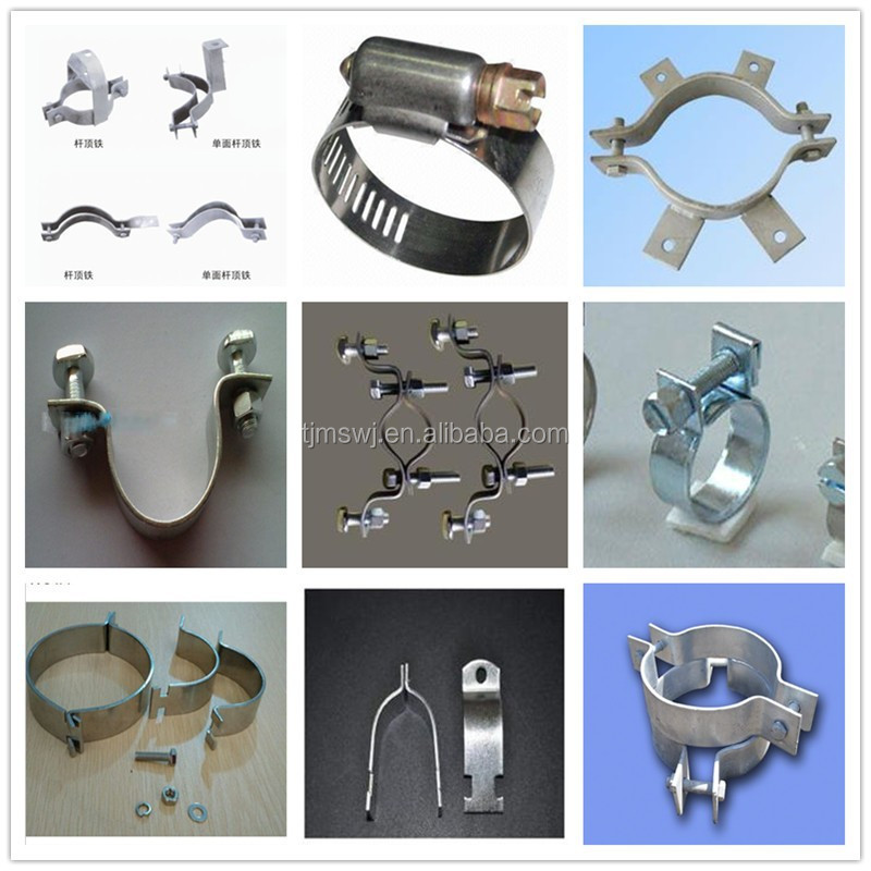 Quality Pull hoop/Cable fittings Clamp / hose clamp