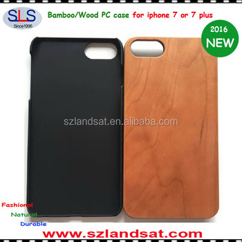 2016 New and Hot Sale real wood and pc case for iphone 7 and PC wood case for iphone 7 IPC368