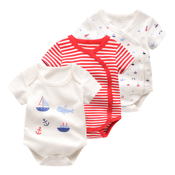 The newborn baby baby thin summer clothes short sleeved summer pajamas