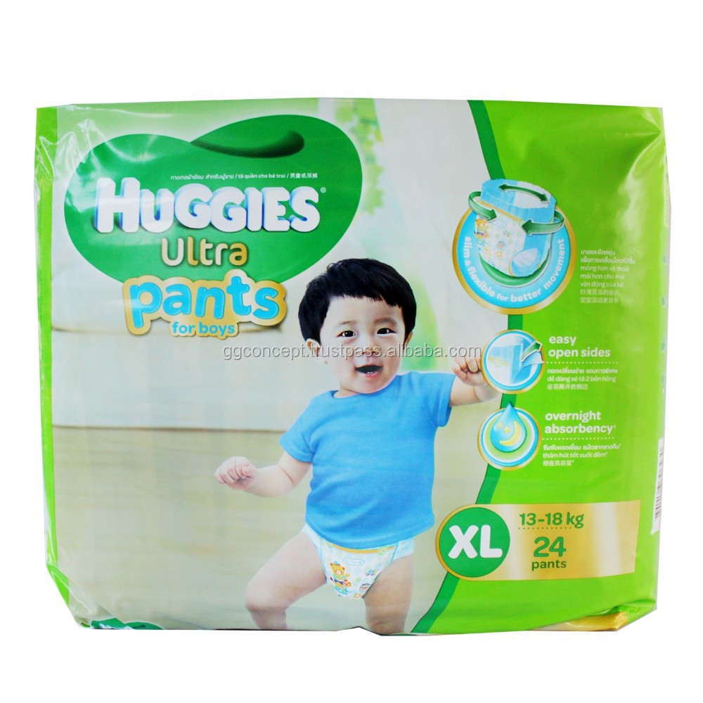 Huggies Ultra Pants for boy (XL 24)/diaper dry/sleepy baby diaper/Diaper Pants