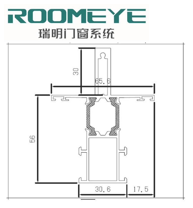 OEM new design low price aluminum extrusion profile for window grc window frame