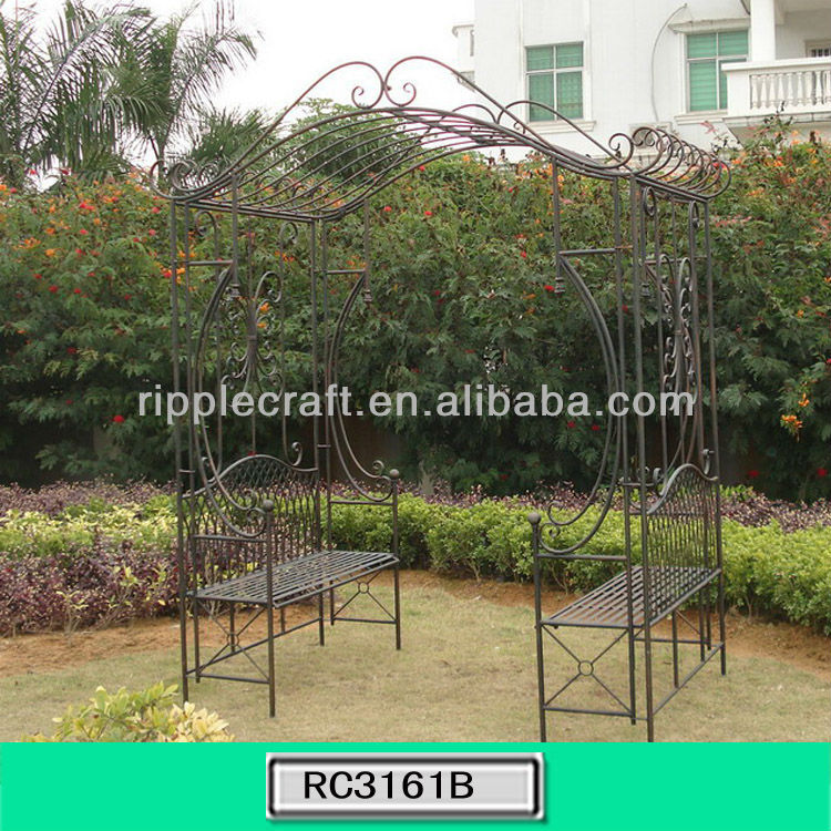 2013New Launch Design Metal Garden Arch with Bench