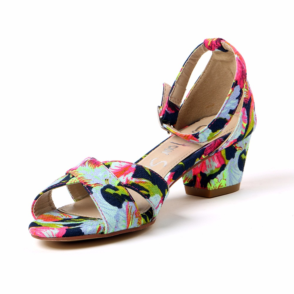 TONGPU New Arrival Fashion Flower Print Women Shoes Ladies Comfortable Sandals