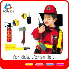 7PCS CHILDREN FIREMAN COSPLAY COSTUME SET, RESCUE FIREMAN TOY SET SUIT