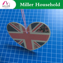 UK flag printed hanging cardboard paper car air freshener