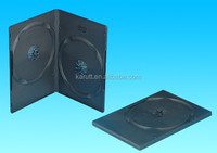 Black Square 14mm 7mm CD carrying case plastic DVD storage case
