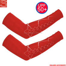 Sport Safety Tennis Arm Sleeves For Red Glof Arm Sleeves