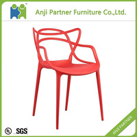 Best selling hight quality custom fancy ergonomic plastic dining room chair suppliers(Peipah)