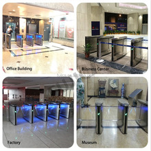 Access Control System baffle gate turnstile TCP/IP Security Flap turnstile