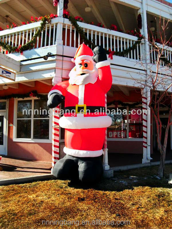 2015 hot selling giant inflatable christmas father,inflatable christmas santa claus