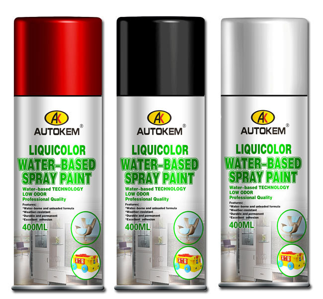 Eco Friendly Multi Purpose Spray Paint Acrylic Paint 400ml Water Based Solvent Based Interior
