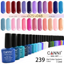 #30917J Nail art canni 239 color wholesell uv polish gel healthy breathable soak off nail polish nail gel colors