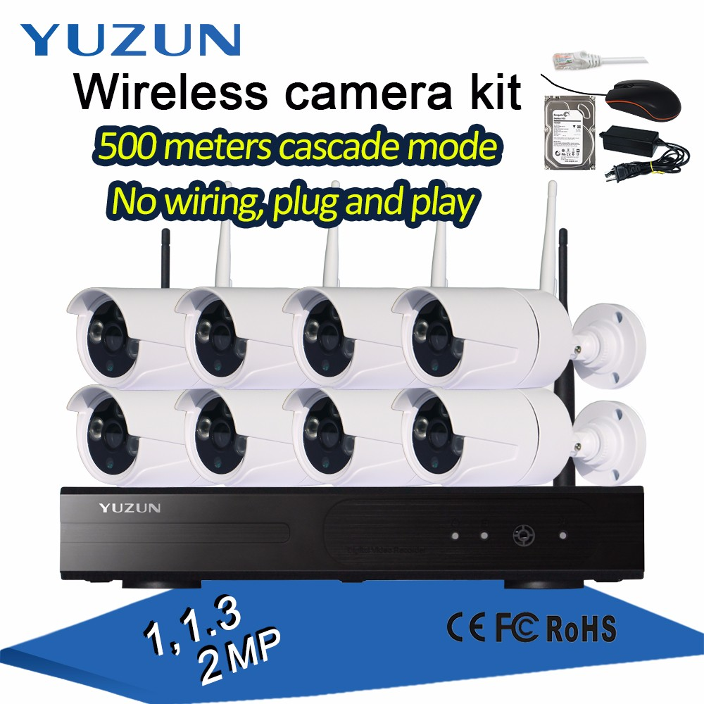 wifi ip camera with nvr kit 8 channel camera home security system