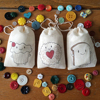 Cheap kawaii mini cotton cloth drawstring bag for bread or cupcake