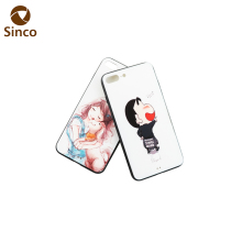 Colorful 3D printed cute girl mobile phone back cover for iphone 7 Plus